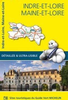 Livres Couvertures de Carte Indre-et-Loire, Maine-et-Loire Michelin
