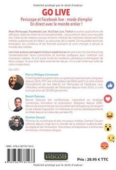 Livres Couvertures de GO LIVE - Periscope et Facebook live: mode d'emploi - En direct avec le monde entier