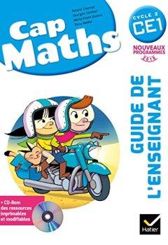 Livres Couvertures de Cap Maths CE1 éd. 2016 - Guide de l'enseignant + CD Rom