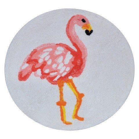Flamingo-Bath-Rug-Multicolored-Pillowfort