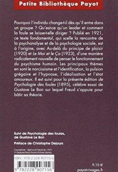Livres Couvertures de Psychologie des foules et analyse du moi - Suivi de