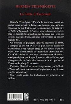 Livres Couvertures de La Table d'Émeraude