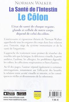 Livres Couvertures de La santé de l'intestin : Le côlon - Notre santé dépend de la santé de notre côlon