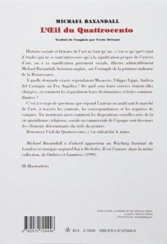 Livres Couvertures de L'Œil du Quattrocento: L'usage de la peinture dans l'Italie de la Renaissance