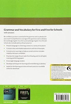 Livres Couvertures de Grammar and Vocabulary for First and First for Schools Book with Answers and Audio