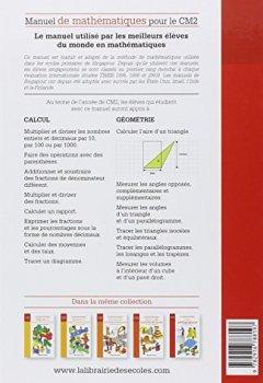 Livres Couvertures de Manuel de mathématiques CM2 : Méthode de Singapour