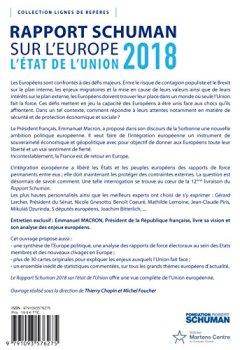 Etat de l'Union 2018 : Rapport Schuman sur l'Europe de Indie Author