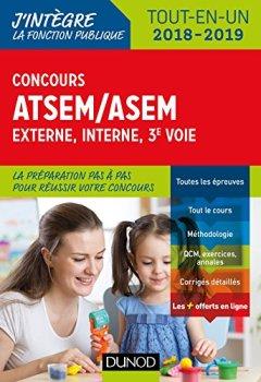 Livres Couvertures de Concours ATSEM/ASEM - Externe, interne, 3e voie - 2018-2019 - Tout-en-un