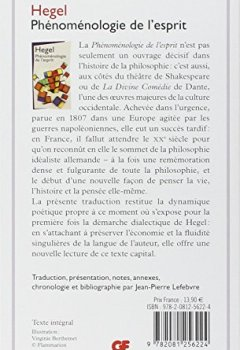Livres Couvertures de Phénoménologie de l'esprit