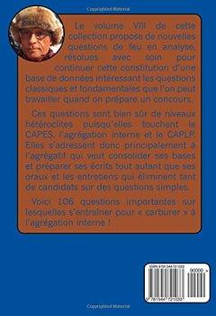 Livres Couvertures de Acquisition des fondamentaux pour les concours VIII : Analyse