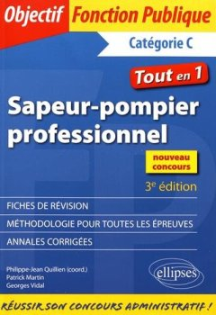 Livres Couvertures de Sapeur-Pompier Professionnel Tout en 1 Catégorie C