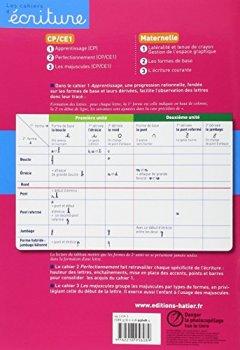Livres Couvertures de Les cahiers d'écriture CP nº1 - Apprentissage