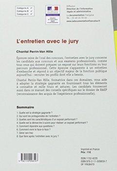 Livres Couvertures de L'entretien avec le jury - Épreuve orale - Recrutement - Édition 2015