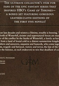 Buchdeckel von George R. R. Martin's A Game of Thrones Leather-Cloth Boxed Set (Song of Ice and Fire Series): A Game of Thrones, A Clash of Kings, A Storm of Swords, A Feast for Crows, and A Dance with Dragons