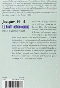 Livres Couvertures de Le bluff technologique: Préface de Jean-Luc Porquet
