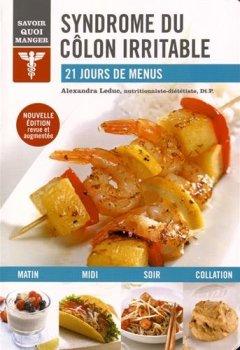 Livres Couvertures de Syndrome du côlon irritable : 21 jours de menus