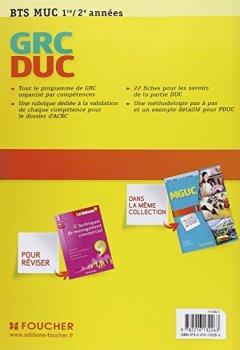 Livres Couvertures de GRC et DUC BTS 1re et 2e années