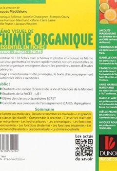 Livres Couvertures de Mémo visuel de chimie organique - L'essentiel en fiches