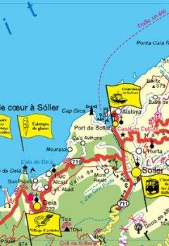 Livres Couvertures de Majorque avec plan de ville Palma 1 : 140 000: Le guide de l'aventure avec les plus beaux sites de Majorque, résistant aux intempéries, résistant à la rupture, compatible GPS. 1:140000