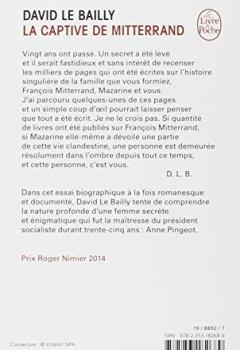 Livres Couvertures de La Captive de Mitterrand