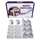 Magnetic Baby Safety Locks for Cabinets & Drawers - Baby Proof & Easy Install - No Screws or Drilling - 8+2 Set