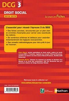 Livres Couvertures de DCG 3 - Droit social 2018/2019 (Fiches de cours)