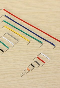 Livres Couvertures de SODIAL (R) 140pcs forme de U essais sans soudure Jumper Cable Kit Fil pour Arduino Shield