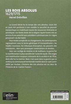 Livres Couvertures de Les rois absolus 1629-1715 - Format compact