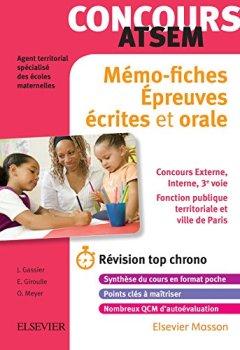 Livres Couvertures de Concours ATSEM - Mémo-fiches: Ecrit et Oral - L'essentiel à retenir