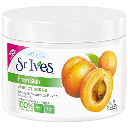 St. Ives Fresh Skin Apricot Scrub deep cleans to leave skin healthy and refreshed. This mild formula is 100 percent sulfate free, and contains natural ingredients that purify and exfoliate for a radiant complexion. By gently removing excess dirt an...