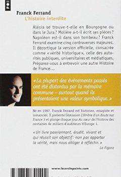 Livres Couvertures de L'histoire interdite : Révélations sur l'histoire de France