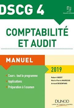 Livres Couvertures de DSCG 4 - Comptabilité et audit 2019 - Manuel