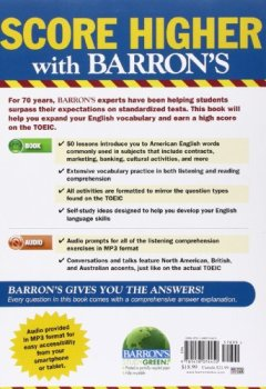 Livres Couvertures de Barron's Essential Words for the TOEIC