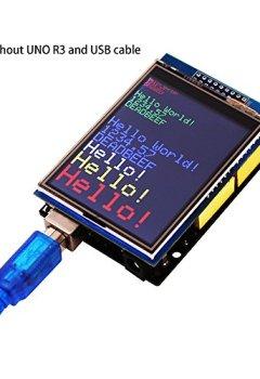 Livres Couvertures de Elegoo UNO R3 2,8 Pouces écran Tactile TFT Touch Screen avec SD Card Socket avec All Technical Data en CD pour Arduino UNO R3