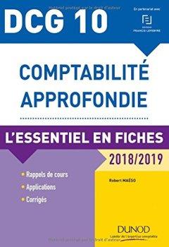 Livres Couvertures de DCG 10 - Comptabilité approfondie - 2018/2019 - L'essentiel en fiches