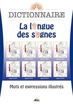 Livres Couvertures de Dictionnaire La langue des signes