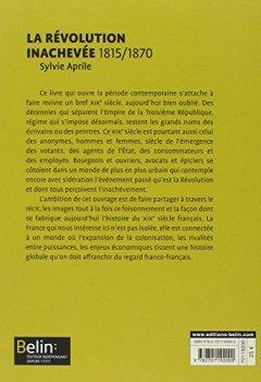 Livres Couvertures de La Révolution inachevée 1815-1870 - Format compact