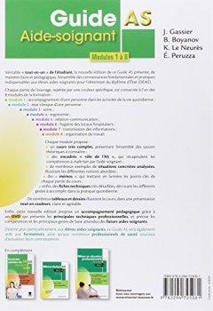 Livres Couvertures de Guide AS - Aide-soignant. Modules 1 à 8: Avec DVD