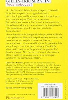 Livres Couvertures de Tous cobayes ! : OGM, pesticides, produits chimiques