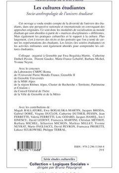 Livres Couvertures de Les cultures étudiantes : Socio-anthropologie de l'univers étudiant
