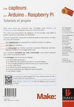 Livres Couvertures de Les capteurs pour Arduino et Raspberry Pi - Tutoriels et projets
