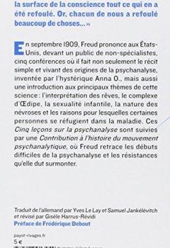 Livres Couvertures de Cinq leçons sur la psychanalyse : Suivi de Contribution à l'histoire du mouvement psychanalytique