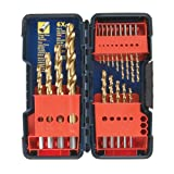 Bosch TI18 18 Piece Titanium Twist Drill Bit Assortment with Plastic Case