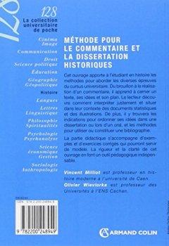 Livres Couvertures de Méthode pour le commentaire et la dissertation historiques - 4ed.