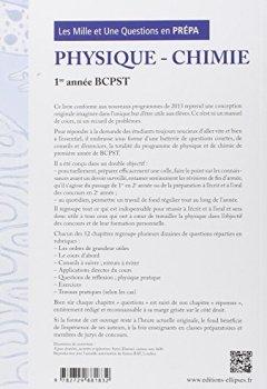 Livres Couvertures de Les 1001 Questions en Prépa Physique Chimie Première Année BCPST Programme 2013