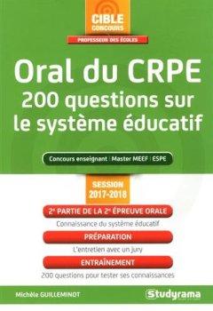 Livres Couvertures de Oral du Crpe 200 Questions Sur le Systeme Éducatif