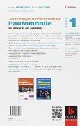 Livres Couvertures de Technologie fonctionnelle de l'automobile - Tome 1 - 7e éd. - Le moteur et ses auxiliaires