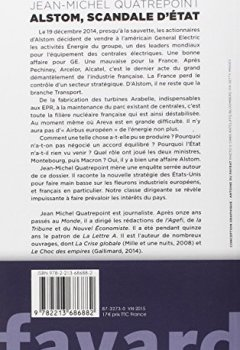 Livres Couvertures de Alstom, scandale d'État
