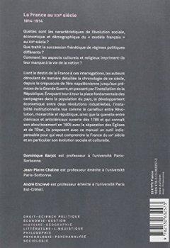 Livres Couvertures de La France au XIXe siècle, 1814-1914