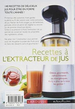 Livres Couvertures de Recettes à l'extracteur de jus: 140 recettes pour faire le plein de vitamines